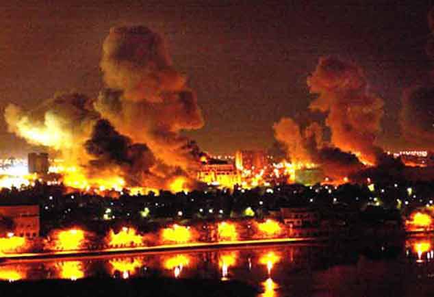 U.S. & Britain Bomb Iraq