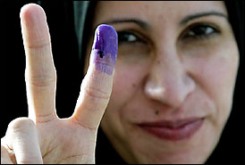 Iraqis Vote for First Time