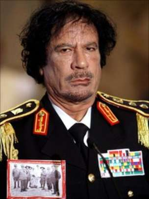 Qaddafi Points Fingers