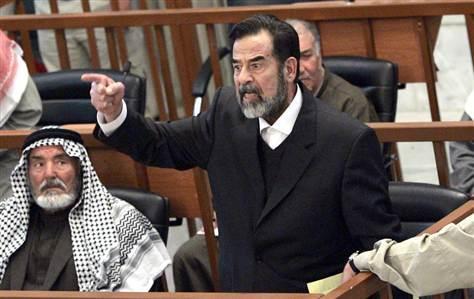 Saddam Hussein is Tried