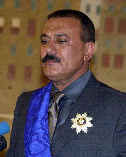 Saleh Gets Re-elected