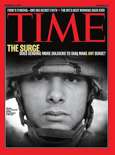 """Bush Announces """"The Surge"""""""
