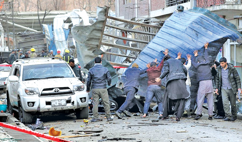 Bomb-laden ambulance explodes in Kubul