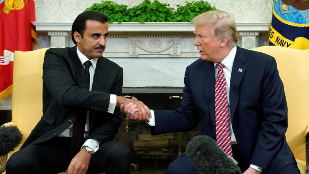 Emir meets with U.S. president.