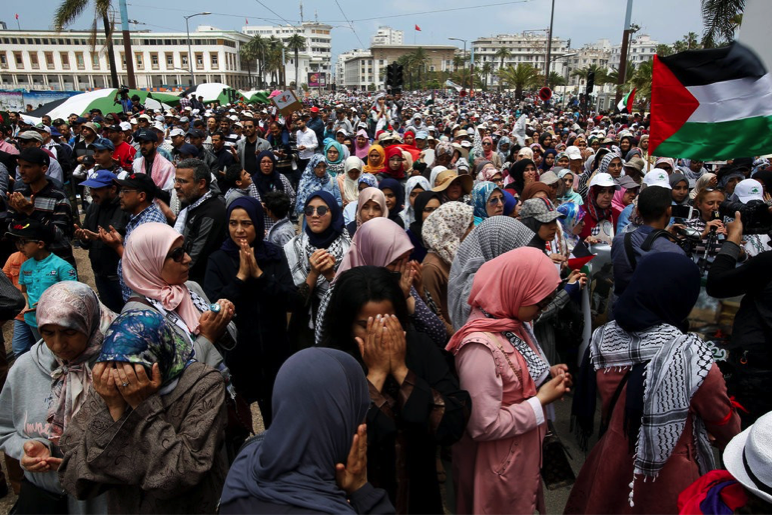 Moroccans protests U.S. embassy move