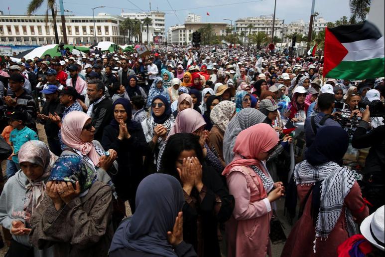Moroccans protests U.S. embassy move