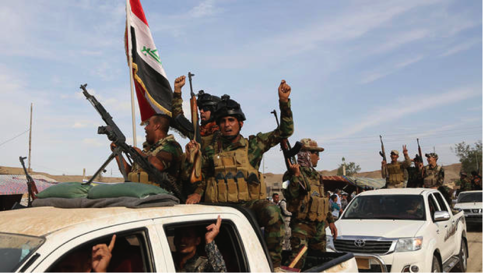 Government forces backed by Kurds and the U.S. drive ISIS out of Iraq