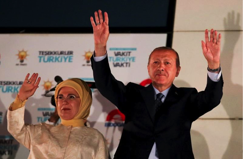 Erdogan wins re-election